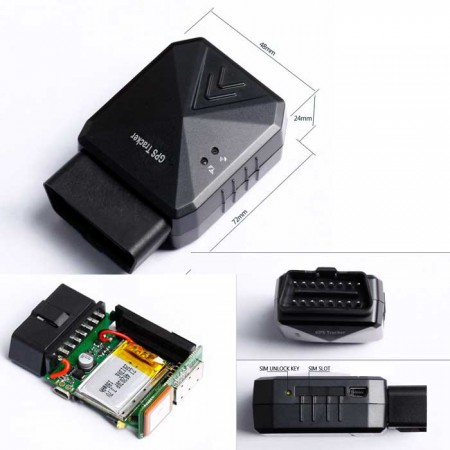 obdii interface gps tracker