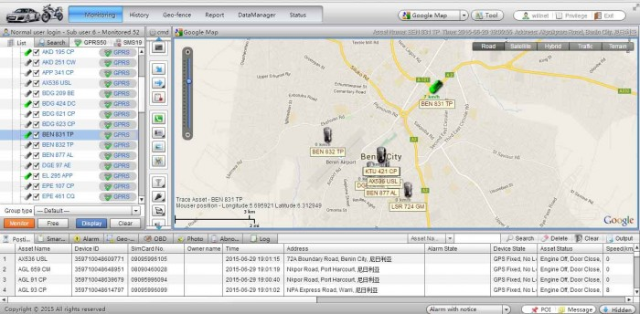 GPS Web Tracking Software