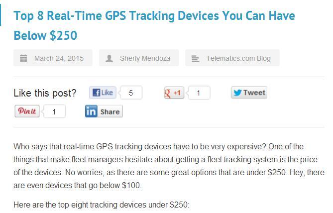 gps tracker price