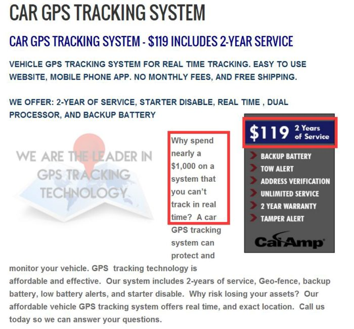 gps car tracker no monthly fee