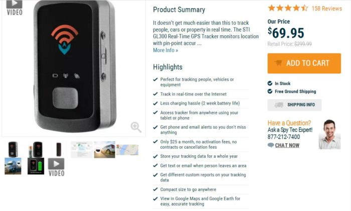 gps personal tracker price