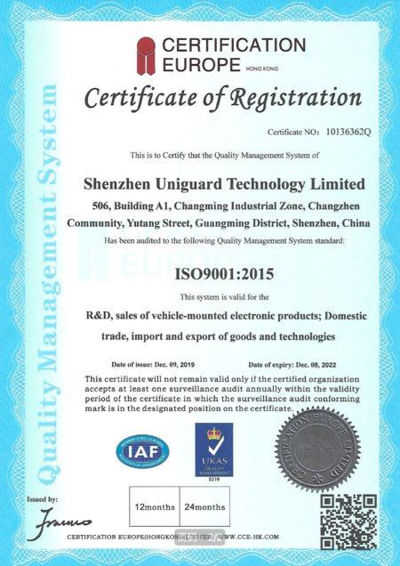 ISO9001 gps tracker